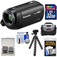 Panasonic HC-V380 Wi-Fi HD Video Camera Camcorder with 32GB Card + Case + Flex Tripod + Kit