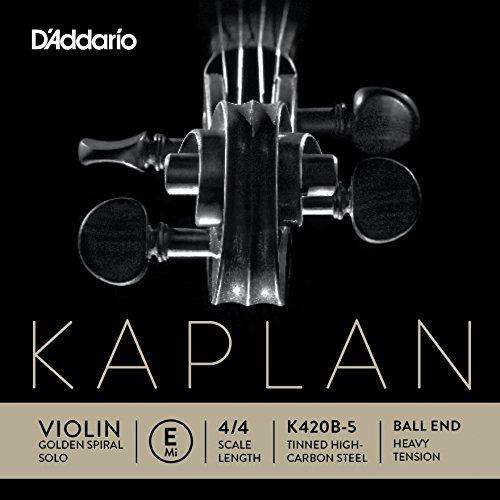 D'Addario Kaplan Golden Spiral Solo Violin Single E String, 4/4 Scale, Heavy Tension ()