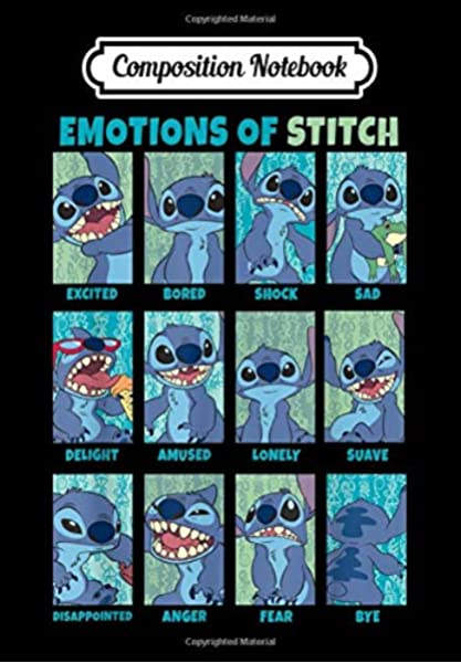 Composition Notebook Disney Lilo Stitch Emotions Of Stitch Panels Journal 6 X 9 100 Page Blank Lined Paperback Journal Notebook Winter Courtney 9798624413184 Amazon Com Books