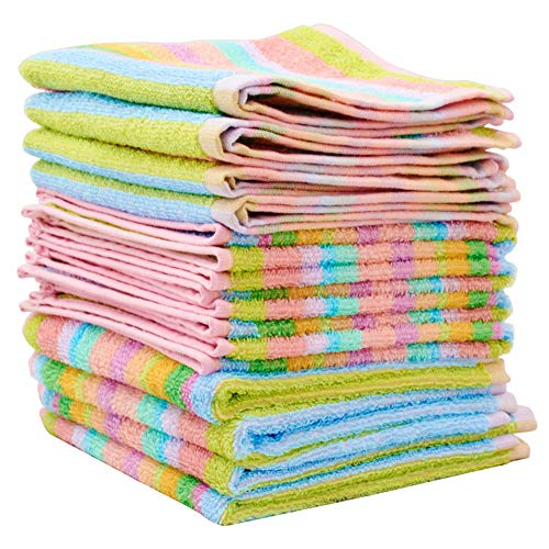 "Scrubbing Dishcloth 100% Square Kitchen Dish Cloth Cotton Terry Towel 12""x12"