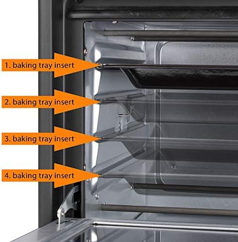 Clatronic Four Électrique - Four Multifonction - Mini-Four avec Grande Fenêtre de Visualisation - Four avec Compartiment de Cuisson 25 Litres - MBG 3727 Noir