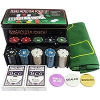 Jogo De Poker Profissional Chips 200 Fichas Com Toalha