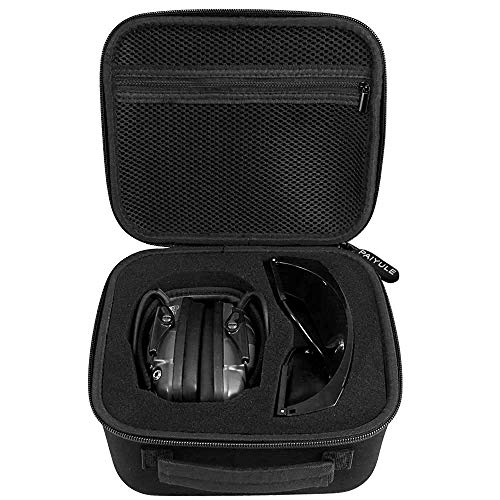 Travel Case for Howard Leight Impact Sport OD Electric Earmuff and Genesis Sharp-Shooter Shooting Glasses, [ Also Fits for Walker's Game Ear Razor Slim Electronic ()