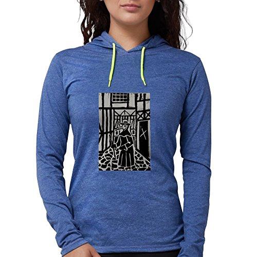 CafePress - The Plague Doctor Long Sleeve T-Shirt - Womens Hooded Shirt Heather -