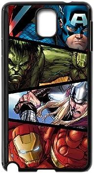 Marvel Comic Samsung Galaxy Note caja del teléfono celular 3 funda Negro caja del teléfono celular Funda Cubierta EEECBCAAH03615: Amazon.es: Electrónica