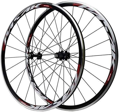 Bike Wheelset ロードバイクホイールセット700Cアルミ7/8/9/10/11スピードベアリングシール型アナルフリーホイールC / Vクイックリリース合金リムフロント2リア4ペイリン二重層 (Color : A)