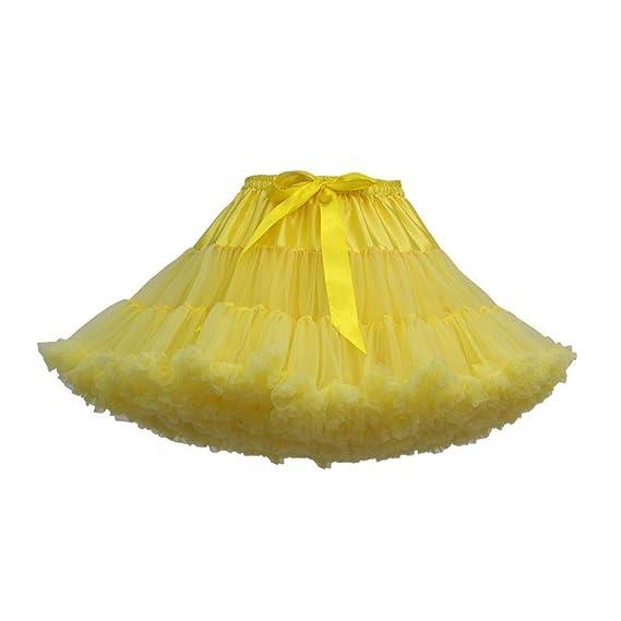 a52cb0dfc VJGOAL Verano de Las Mujeres de Moda Casual Color sólido Fiesta de Baile  Sexy Mini Falda