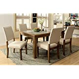 Furniture of America Lucena 7-Piece Transitional Dining Set