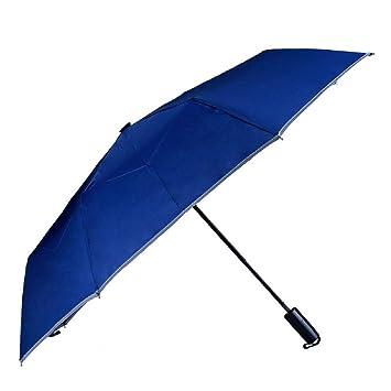 circyco-four en uno multifunción viaje paraguas de Golf con martillo de emergencia brújula luz