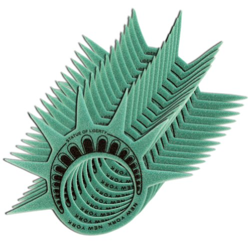 Lot of 12 New York City NY Souvenir Statue of Liberty Party Sport Event Foam Crown Hat - Dozen Pack by Universal Souvenir ()