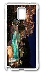 Adorable evening luxury resort Hard Case Protective Shell Cell Phone HTC One M7 - PC Transparent