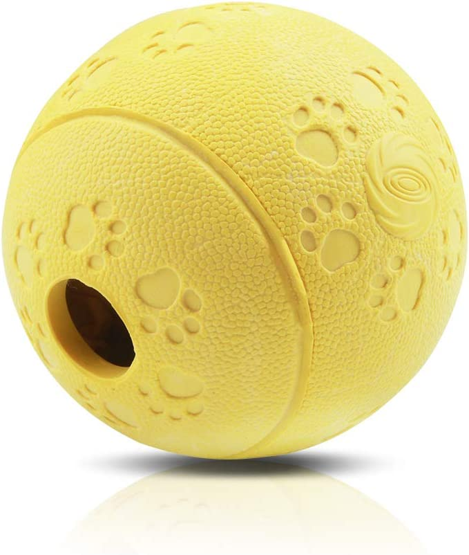 AriTan Interactive Food Dispensing Dog Rubber Toy Ball,Large 3.2