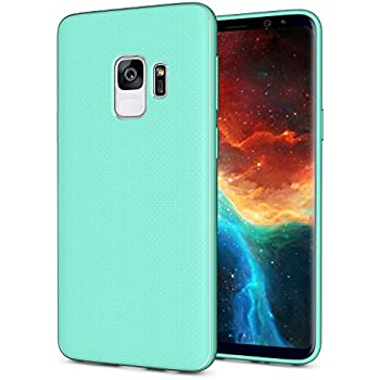 Galaxy S9 Case, OEAGO [Ultra-Thin] [Anti Slip] [Light Weight] Flexible TPU Bumper Soft Rubber Slim Silicone Skin Cover with Easy Grip Design for Samsung ...