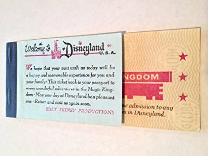 1967 Disneyland Magic Kingdom Ticket Book