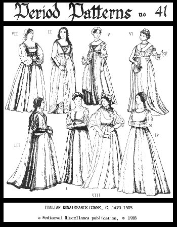 Women's Italian Renaissance Gowns Pattern by Period Patterns