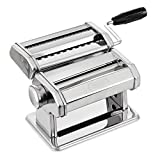 PAGILO pasta machine with 9 steps for spaghetti, tagliatelle, fettuccine and lasagne - pasta machine, pasta maker a