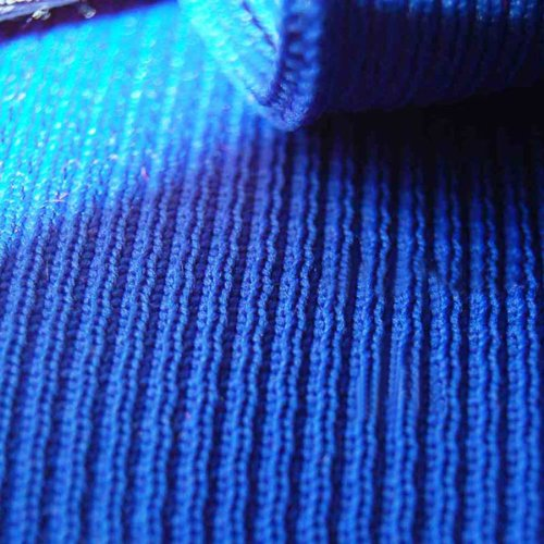 Neotrims Polyester Rib Knit Jersey Stretch Sports Feel Fabric, For Waistband & Cuffs. Very Resilient, Durable, Strong Properties. Excellent Versatile Material in 2x1 Rib Construction, Navy, Black, Grey & Royal Blue, Sold as Half Metre and 1 Metre Lengths - Trim 100% Polyester Fleece