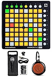 Novation LAUNCHPAD MINI MK2 MKII USB MIDI DJ Controller+Mic+Headphones by NOVATION