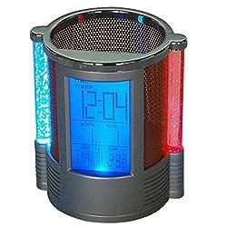 Homily NEW Digital Desk Pen/Pencil Holder LCD Alarm Clock Thermometer&Calendar Display