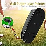 COREYCHEN Laser Golf Putter Prior Generation Spider Putters Mini Black Golf Putter Training Aim Line Corrector Improve Aid Tool Golf Practice Accessories Black Golf Putter Laser Pointer Putting