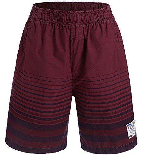 Promstar Badeshorts Boardshorts Badehose Sommer beachshorts herren Quick-drying shorts, Medium, Farbe: Grau