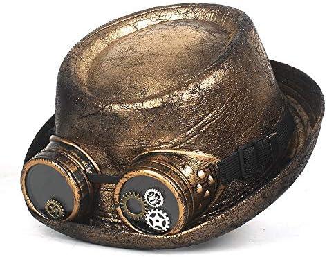 Xingyue Aile Sombrero de copa y gorras de vaquero, Pork Pie de oro ...
