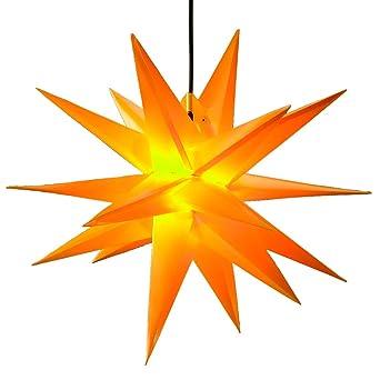 Weihnachtsstern O 50 Cm Gelb 3d Adventsstern Mit Beleuchtung