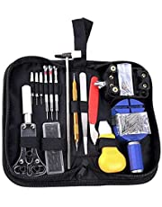 Watch Repair Kit,Cadrim Repair Tools Professional Spring Bar Tool Set,Watch Battery Replacement Tool Kit,Watch Band Link Pin Tool Set with Carrying Case