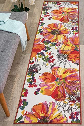 Amazon Com Modern Bright Flowers Non Slip Non Skid Area