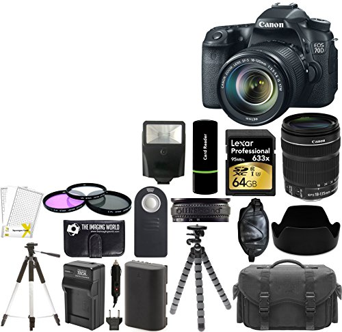 Canon EOS 70D 20.2MP Digital SLR Camera with Dual Pixel CMOS