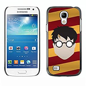 Paccase / Hard Protective Case Cover for - Popular Glasses Faceless Boy Man Stripes Art Drawing - Samsung Galaxy S4 Mini i9190 MINI VERSION!