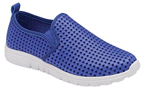 Krishwear - Mocasines de Material Sintético para mujer Azul