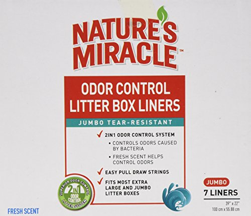 Nature's Miracle Odor Control Jumbo Litter Box Liners, 7 Cou
