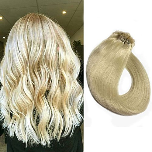 Platinum Blonde Extensions Straight Clips product image