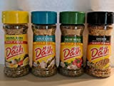 Mrs. Dash Seasoning Blends Variety Flavor 4 Pack, Italian Medley 2 oz,Garlic& Herb 2.5 oz,Chicken Grilling 2.4 oz,Original Blend 2.5 oz
