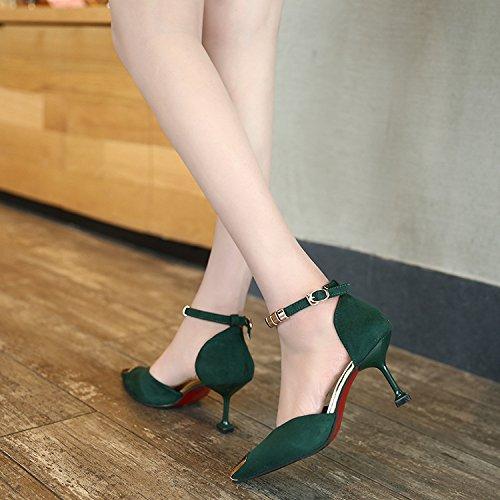 Scarpe profilato Sig 37 ra il Green donna yalanshop con di elegante dTwXdq7