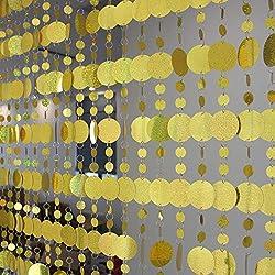 Laser Gold Plastic Sequin Curtains