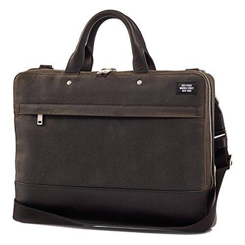 Jack Spade Waxwear Slim Briefcase Bag, Fits 15'' Laptop - Chocolate by Jack Spade