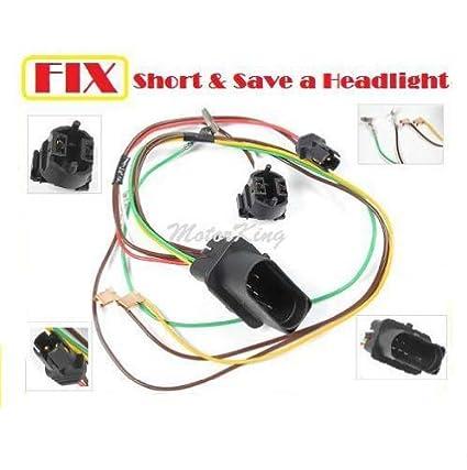 D068 01-05 VW Pat Headlight Head Lamp Wiring Harness Connector Repair on