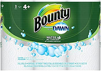 Bounty with Dawn Paper Towels, White, 3ct, Giant Roll - Giant
