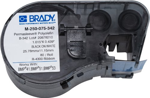 Brady M-250-075-342 Labels for BMP53/BMP51 Printers by Brady