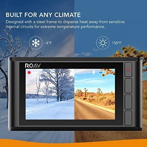 32GB microSD Speicherkarte inklusive Weitwinkelobjektiv f/ür 4 Spuren App mit FHD 1080p Aufl/ösung Roav DashCam C2 Pro