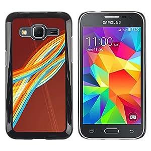 Stuss Case / Funda Carcasa protectora - Colorful Rainbow Stripes Art Waves Lines Modern - Samsung Galaxy Core Prime SM-G360