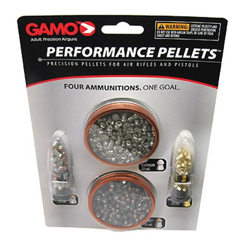Gamo 63209285554 High Performance Airgun Pellets Combo Pack, .22 Caliber High Performance Gun