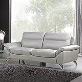 Cortesi Home CH-3MONACO3586F Monaco Contemporary Leather Sofa, Grey Review