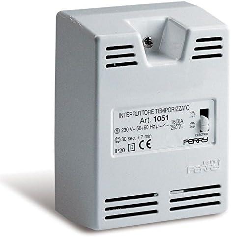 Perry - Interruptor temporizador escalera superficie: Amazon.es: Bricolaje y herramientas