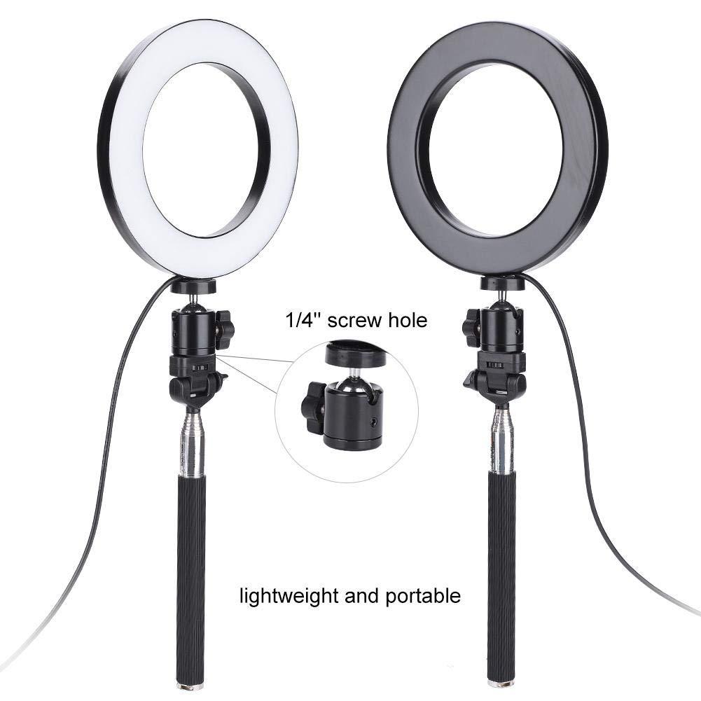 5500K 6con Staffa Lampada di riempimento per Fotocamera USB 3200K EBTOOLS Kit di Accessori per la Fotografia con Luce di riempimento a LED dimmerabile