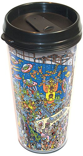 Where/'s Waldo Dinosaur and Spaceman Travel Mug