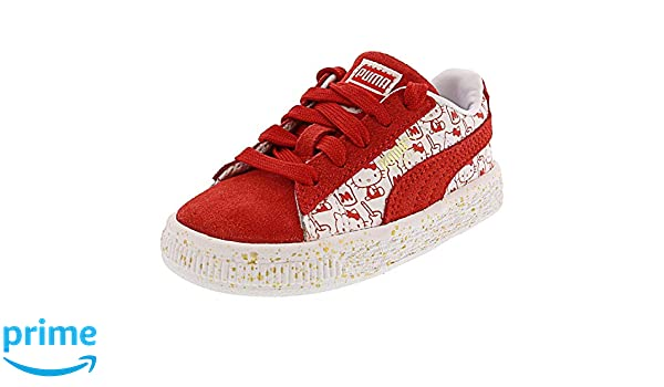 PUMA x Hello Kitty Infant Suede Bright Red Bright Red Red