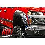 RDJ Trucks PRO-OFFROAD Bolt-On Style Fender Flares - GMC Canyon 2004-2012 - Set of 4 - Aggressive Textured Black Finish